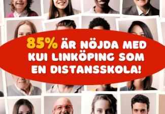 85% är nöjda med KUI Linköping som en distansskola
