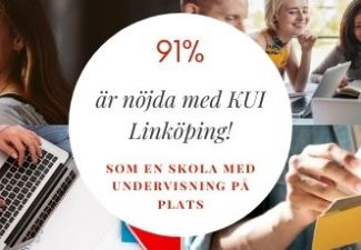 91% är nöjda med KUI Linköpings klassrumsundervisning
